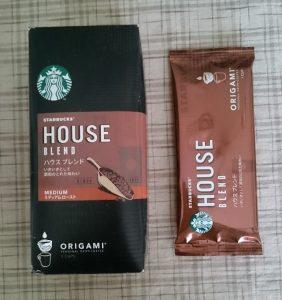 スターバックスオリガミパーソナルドリップコーヒー(外箱と個包装)