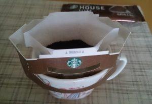 スタバオリガミドリップバッグをカップにON!